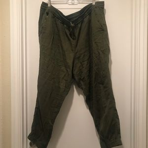J. Crew Army Green Seaside Pants size 18